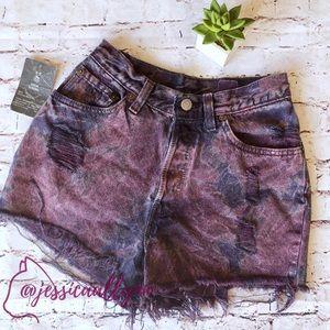 Urban Renewal | dyed Levi's denim cutoff shorts UO